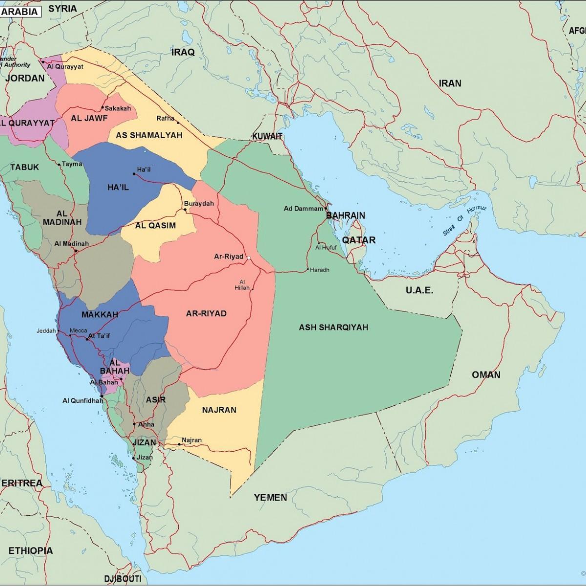 مدن المملكة العربية السعودية خريطة خريطة مدن المملكة العربية السعودية غرب آسيا آسيا